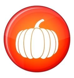 Pumpkin icon flat style vector