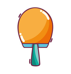 Racket to table tennis play game vector