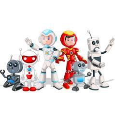 robot cartoon set vector image