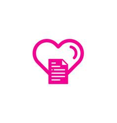 romantic document logo icon design vector image