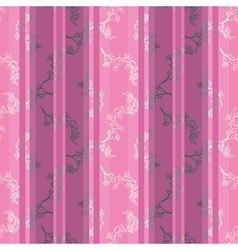 Seamless pattern with twig magnolia vector