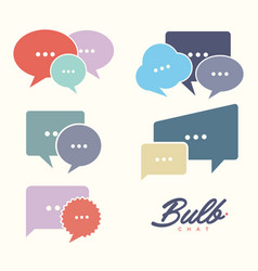 set bulb chat vector image