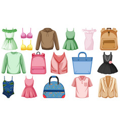 Set fashion outfits vector