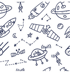 space seamless pattern print design doodle design vector image