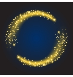 Star dust circle vector image