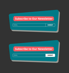 Subscribe to our newsletter form vector