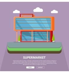 Supermarket Web Template in Flat Design vector
