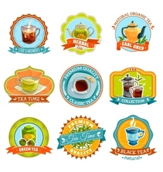 Tea Label Set vector image