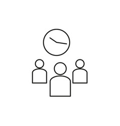 team time management icon vector image