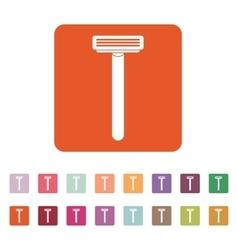 The shaving razor icon Shaver symbol Flat vector image