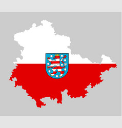 thuringen map flag silhouette isolated germany vector image