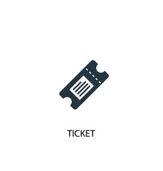 ticket icon simple element vector image