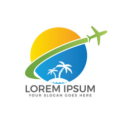 Travel and tourism logo design vector