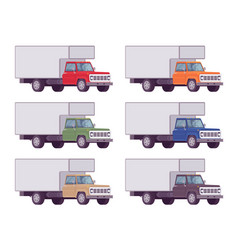 Truck set in bright colors vector