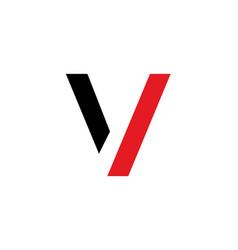 v letter logo v letter emblem vector image