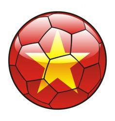 Vietnam flag on soccer ball vector