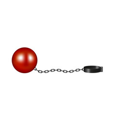 Vintage shackle in red and black design vector