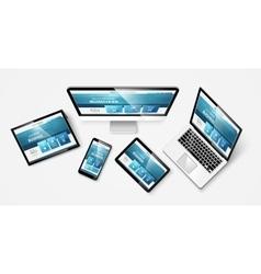 Web design 1 vkr vector image