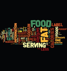 you need to know what is in your food text vector image