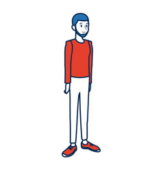 young people in casual clothes man isolated vector image