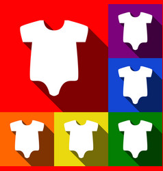 baby sign set of icons with vector image