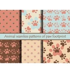 Cat or dog footprints vector image