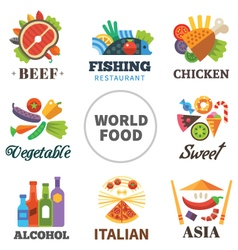 World of food vector image