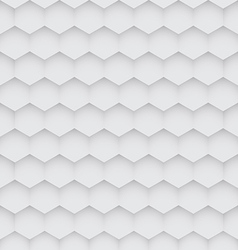 Abstract white hexagon seamless pattern vector image vector image