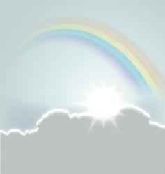 beautiful sky vector image