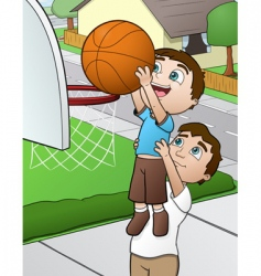 family basketball vector image