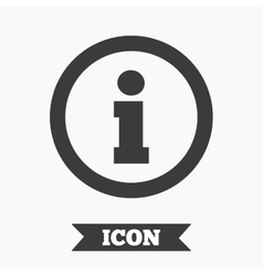 Information sign icon Info symbol vector image vector image