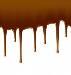 milk chocolate drips vector image vector image