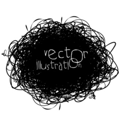 Scribble isolated on white background black and vector image vector image