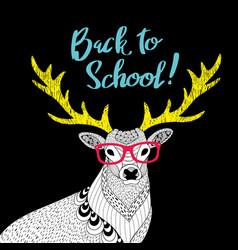 teacher deer print vector image