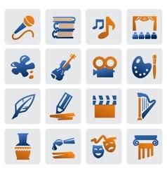 arts icon set vector image