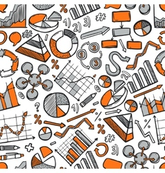 Charts Sketch Seamless Pattern vector image