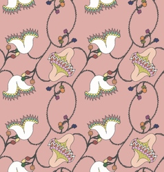 Floral pink seamless pattern vector