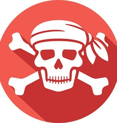 Pirate Skull Icon vector image vector image