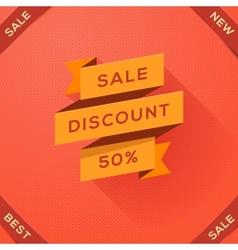 Sale discount paper folding design vector image vector image