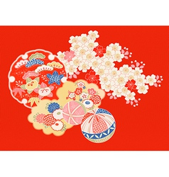 vintage Japanese kimono vector image vector image