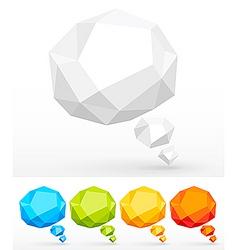 3d speech bubbles vector image vector image