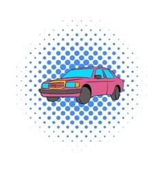 German car icon comics style vector image
