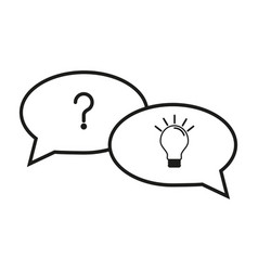 question and answer icons vector image