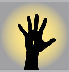 resurrected jesus raises his hand to the sky vector image