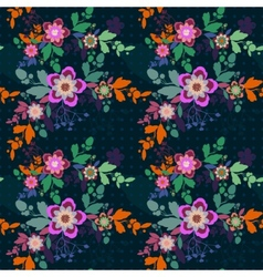 Retro romantic floral background with flowers vector image