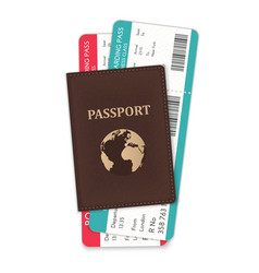 the of the passport and the vector image
