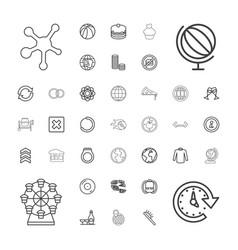 37 round icons vector