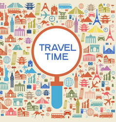 a set of elements for travel and vacations0010118 vector image