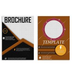 Abstract a4 brochure cover design templates for vector