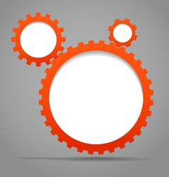 Abstract gears vector